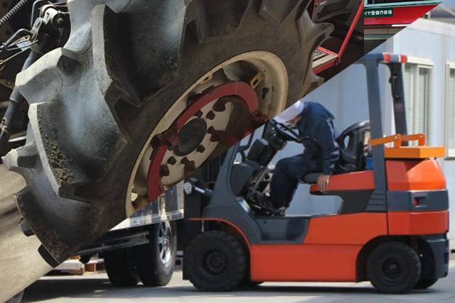 産業用車両のタイヤメンテナンス